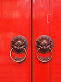 Red chinese door — Stock Photo
