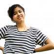 Asian woman with her arms akimbo — Stock Photo