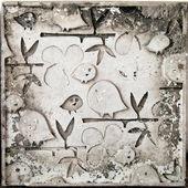 Birds on a branch,molding art — Stock Photo