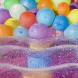 Water filled colored balloons — Foto Stock