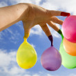Finger balloons — Stock Photo
