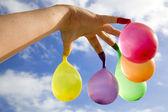 Finger balloons — Stock Photo
