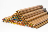 Piled up colored pencils — Stock Photo