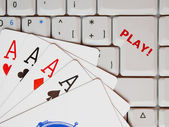 Online gaming — Stock Photo