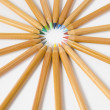 Stock Photo: Uncolored wooden pencils