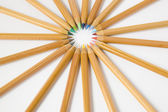Uncolored wooden pencils — Stock Photo