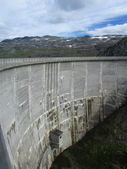 Dam of the hydroelectric power plant — Stock Photo