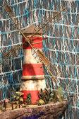 O modelo de moinho de vento listrado — Foto Stock