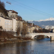 Grenoble famous eggs under the river bridge - Stock Photo