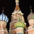 Saint Basil's Cathedral in the night — Stock Photo