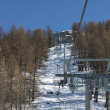 Empty Chair Lift — Stock Photo