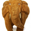 Stock Photo: Sri Lankelephant from coconut nutshell