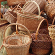 Weave baskets and brooms — Stock Photo