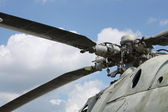 Big propeller of helicopter — Stock Photo