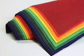 Samples of felt — Stock Photo
