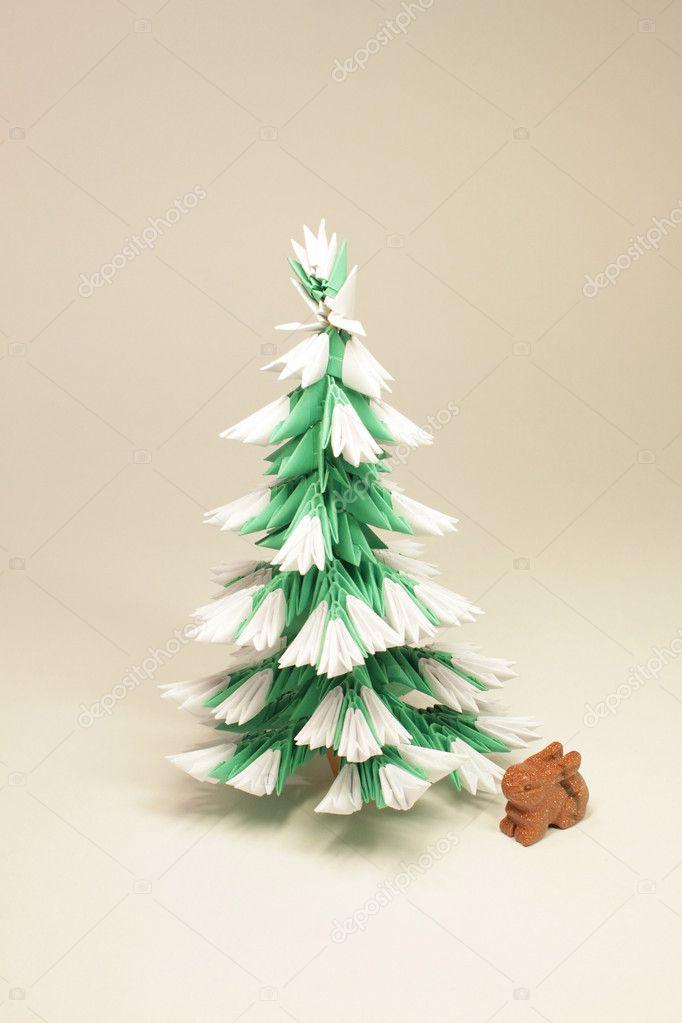 Module origami arbre de no l avec le li vre photographie miaynata 8970935 - Arbre de noel origami ...