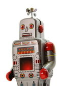 An old mecanical robot frontal view — Stock Photo