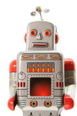 An old mecanical robot vertical — Stock Photo