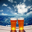 Two beer sea — Stock Photo