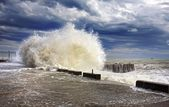 Wave splashes sea storm — Stock Photo