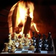 Royalty-Free Stock Photo: Fireplace chess