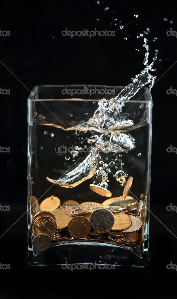 	money water  Stock Photo #9341646
