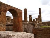 De gamla byggnaderna i pompeji — Stockfoto