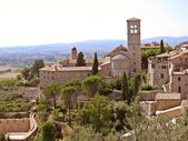 Architectural panorama of Assisi — 图库照片