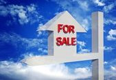 Array of houses for sale — Stock Photo
