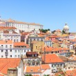 Royalty-Free Stock Photo: Alfama view, Lisbon. Roofs, Monastery Sao Vicente, Church Santa