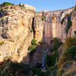 New bridge and falls in Ronda white village. Andalusia, Spain. — Stock Photo