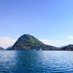 Lugano lake and mountains landscape. Ticino, Swiss, Europe. — Stock Photo #10532881