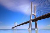 Vasco da Gama bridge, Lisboa, Portugal. — Stock Photo