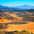 Landscape of Tuscany near Volterra, Italy. - Stock Photo