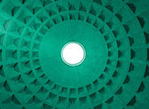 Pantheon Dome ceiling pattern and hole, Rome Italy. — Stock Photo