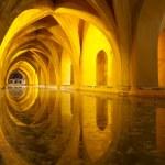 Alcazar queen's bath, Seville, Andalusia, Spain — Stock Photo