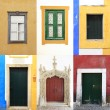 Royalty-Free Stock Photo: Windows doors colorful portugal traditional collection