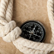 Marine rope and compass — Stock Photo #8944438