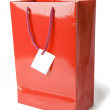 Stock Photo: Red shopping bag on white background