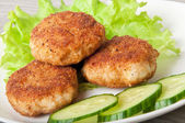Chicken cutlet with vegetables — Stock Photo