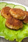 Cotoletta di pollo con verdure — Foto Stock