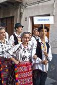 Hungarian folk group — Stock Photo