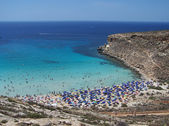 Beach on the island of rabbits. Lampedusa- Sicily — Stock Photo
