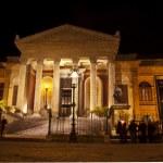 Theatre Massimo by night — Stock Photo