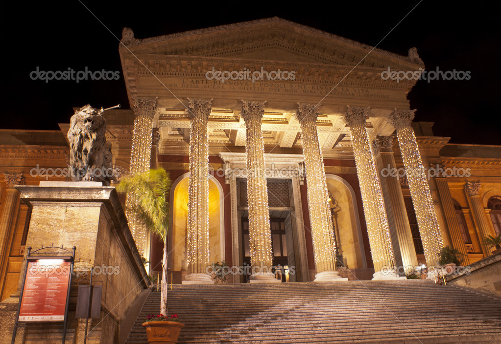 The Teatro Massimo Vittorio Emanuele is an opera house and opera company located on the Piazza Verdi in Palermo, Sicily. It was dedicated to King Victor Emanuel — Stock Photo #8950065