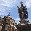 Detail of the cathedral of Palermo - Stock Photo