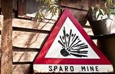 Danger mines sign — Stock Photo