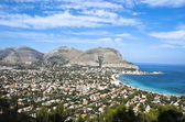 Panoramic view of the mondello's gulf — Stock Photo