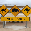 Stock Photo: Australiroad sign