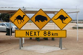 Australian road sign — Stock Photo